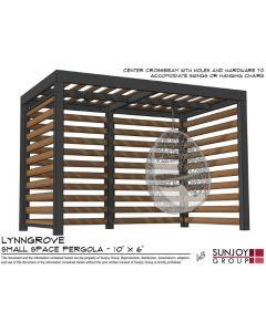 SummerCove 10x6 Lynngrove Small Space Pergola