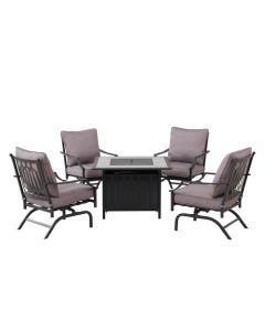 5PC LP Firepit Chat Seating Sets(black)