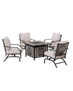 5PC LP Firepit Chat Seating Sets(sand black)
