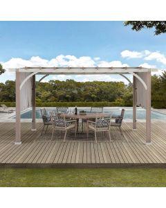 SummerCove Delrey 12 ft. x 14 ft. Pergola with Adjustable Canopy