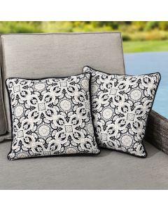 Sunjoy Medallion Alabaster Outdoor/Indoor Accent Pillows 2-Pack