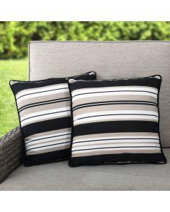 Sunjoy Stripe Alabaster Outdoor/Indoor Accent Pillows 2-pack