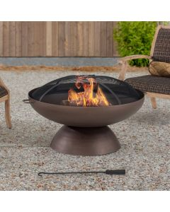 AmberCove Extra Large 40 in. Denison Wood-Burning Firepit