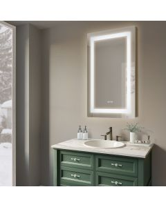 Sonoma Crest 24 in. x 36 in. Luxury Wall Mount Bathroom LED Mirror with Defogger and Dimmer