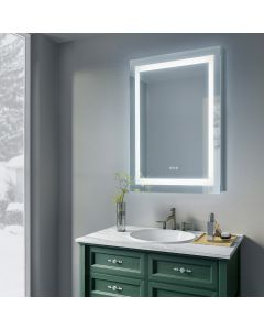 Sonoma Crest 30 in. x 36 in. Luxury Wall Mount Bathroom LED Mirror with Defogger and Dimmer