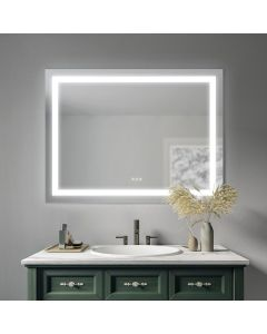 Sonoma Crest 48 in. x 36 in. Wall Mount Bathroom LED Mirror with Defogger and Dimmer