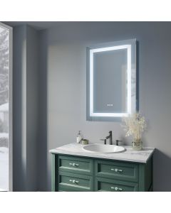 Sonoma Crest 24 in. x 32 in. Luxury Wall Mount Bathroom LED Mirror with Bluetooth Sound,Defogger and Dimmer