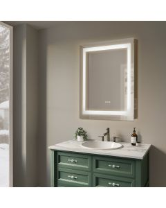Sonoma Crest 30 in. x 32 in. Luxury Wall Mount Bathroom LED Mirror with Bluetooth Sound,Defogger and Dimmer