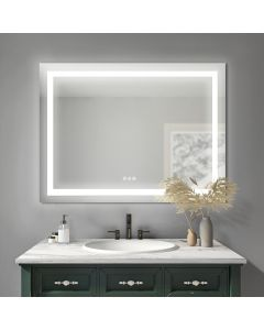 Sonoma Crest 48 in. x 32 in. Luxury Wall Mount Bathroom LED Mirror with Bluetooth Sound, Defogger and Dimmer