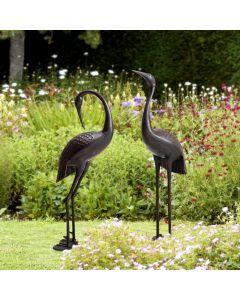 Sunjoy Iron Collection Cast Aluminum Crane Set, Bronze