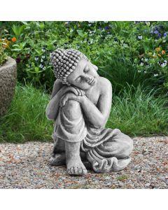 Sunjoy Brown Clay Decorative Buddha Garden Décor Statue