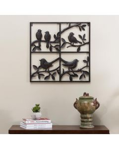 Sunjoy Copper Colored Designed with Birds on Branches Wall Decor with Screw-Hangers
