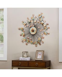 Sunjoy Acornwood Decorative Burst Wall Art